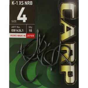 Шарански куки Hayabusa K-1 XS NRB, които се отличават с висока здравина и премерена доза гъвкавост. Жилата им са химически заточени, което ги прави изключително остри.